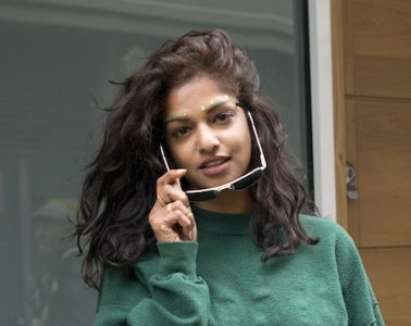 LONDON, ENGLAND - SEPTEMBER 22:  Musician M.I.A wears Kenneth Cole sunglasses on day 5 during London Fashion Week Spring/Summer 2016/17 on September 22, 2015 in London, England.  (Photo by Kirstin Sinclair/Getty Images)